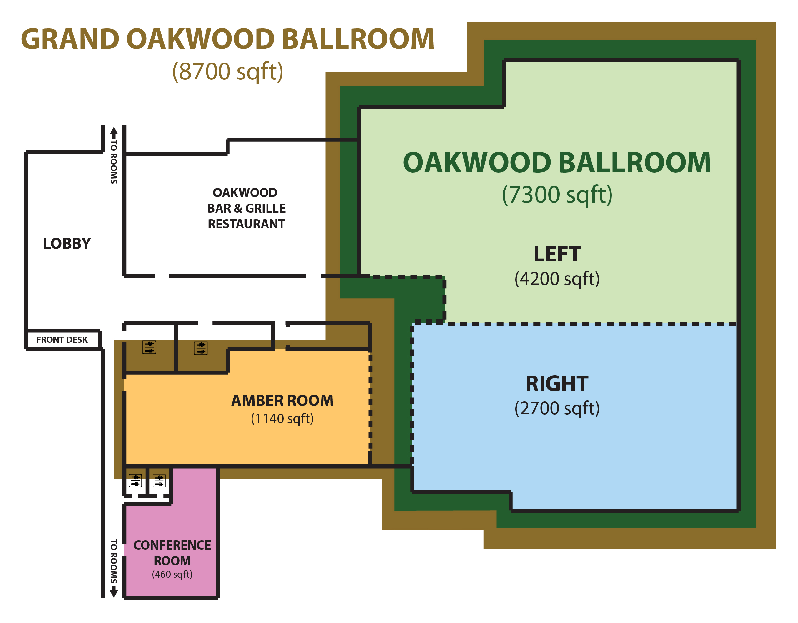 Floor plans capacity groton inn suites for Banquet hall designs layout